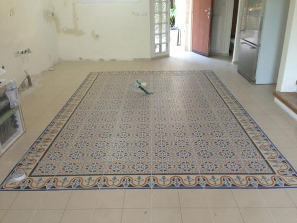 ריצוף שטיח פורצלן וילה מוצא עלית